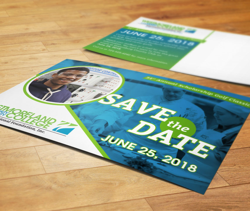 WCCC 31st Annual Golf Outing Save the Date Postcard