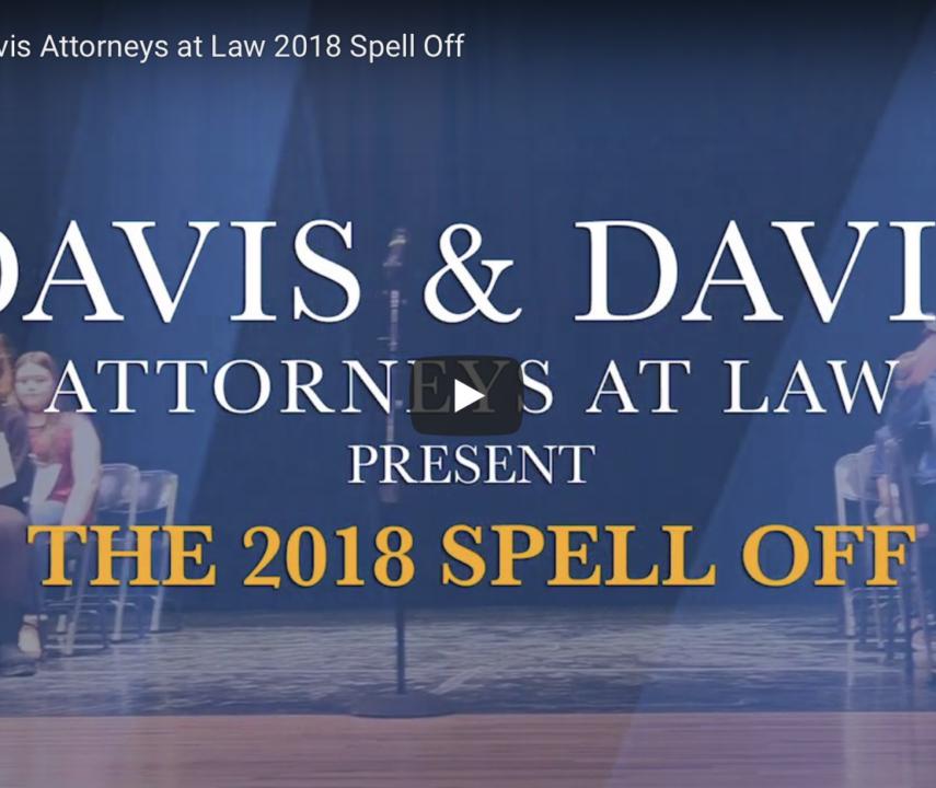 Davis & Davis Attorneys at Law 2018 Spell Off