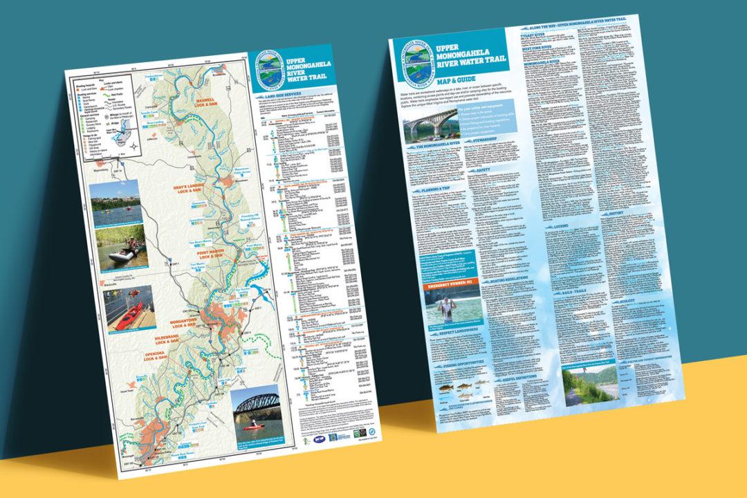 Upper Monongahela River Water Trail Map