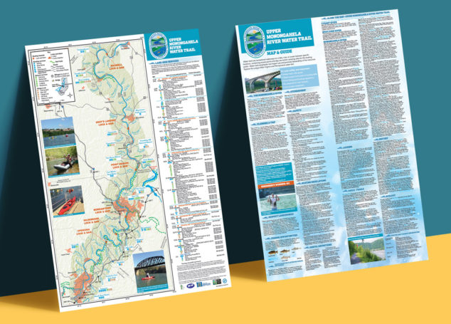 Upper Monongahela River Water Trail Map