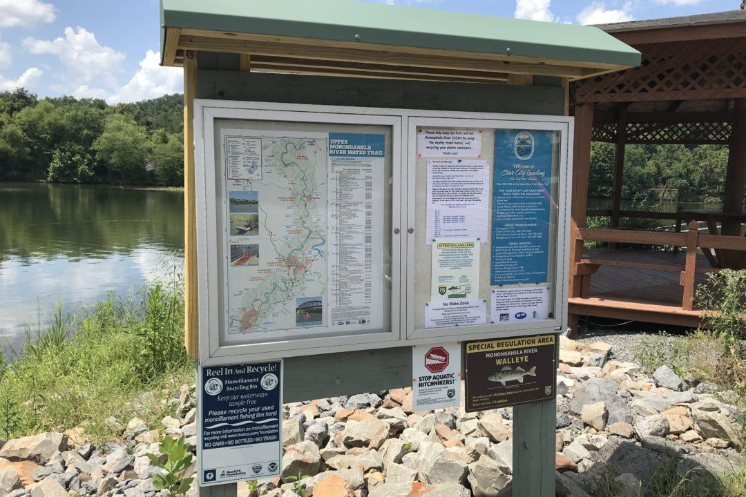 Upper Mon River Association River Signage