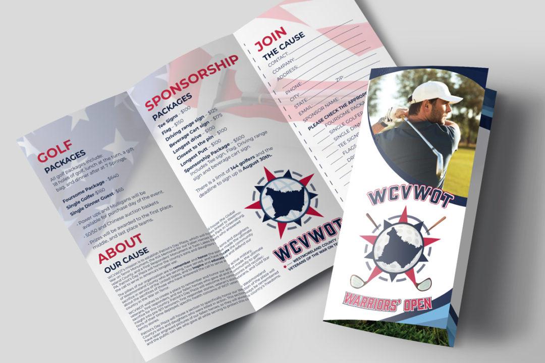 WCVWOT Warriors' Open Golf Outing Brochure