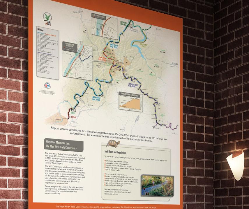 Mon River Trails Rail-Trails Map