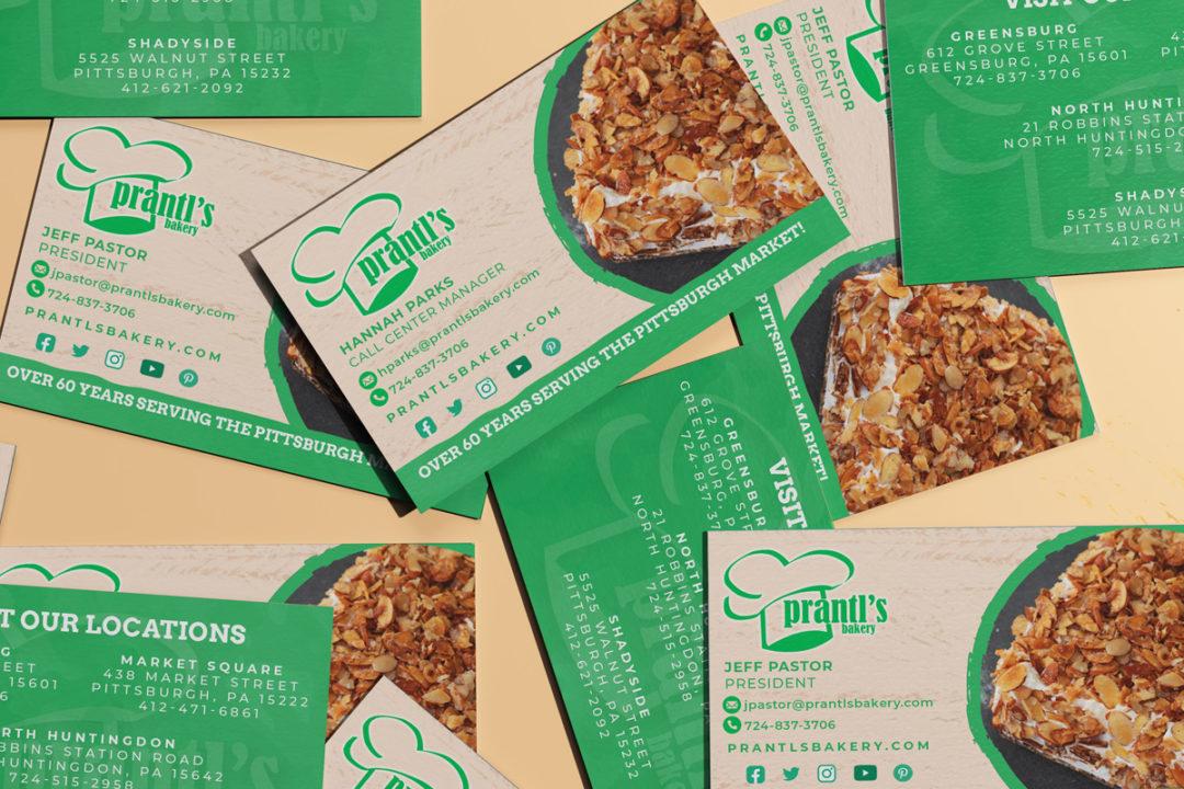 Prantl's Bakery Business Cards