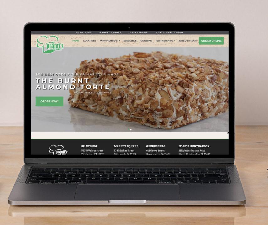 Prantl's Bakery Website