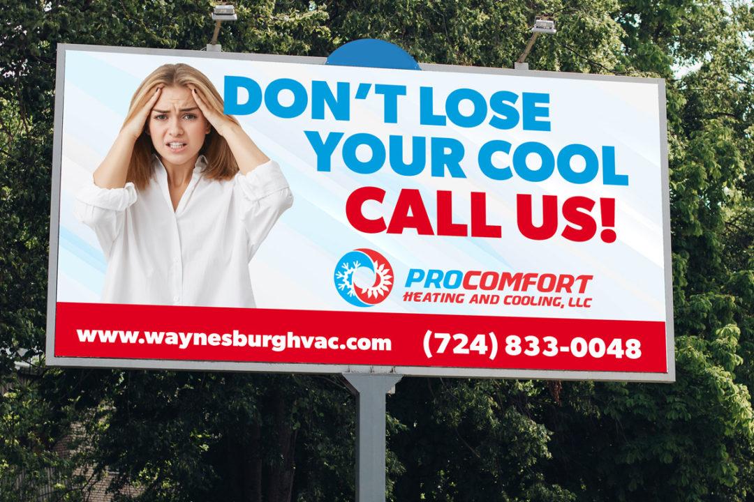 Pro Comfort Heating & Cooling Billboard